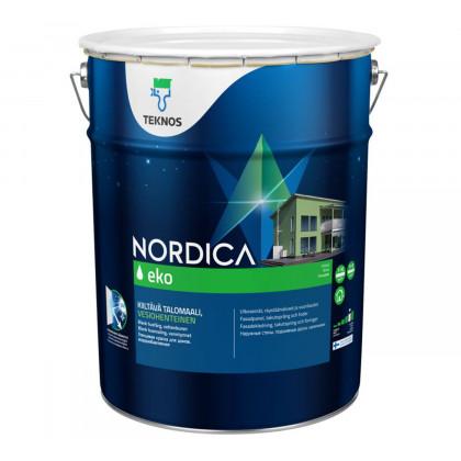 Текнос NORDICA EKO глянцевая краска для деревянных фасадов 18 л.