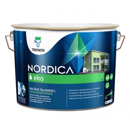 Текнос NORDICA EKO глянцевая краска для деревянных фасадов 9 л.