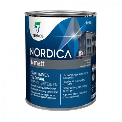 Текнос NORDICA MATT матовая краска для деревянных фасадов 0,9 л.
