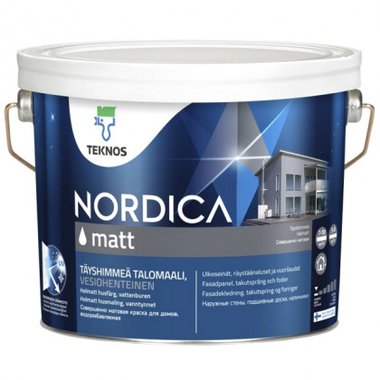 Текнос NORDICA MATT матовая краска для деревянных фасадов 2,7 л.