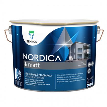 Текнос NORDICA MATT матовая краска для деревянных фасадов 9 л.