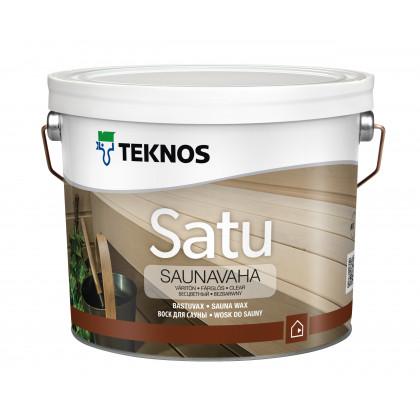 Текнос SATU SAUNAVAHA воск бесцв для дер. поверхностей 2,7 л.