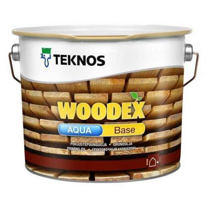Текнос WOODEX AQUA BASE грунтовочный антисептик на водном растворителе 10 л.