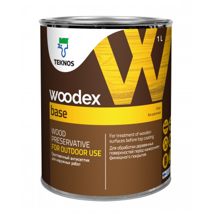 Текнос WOODEX BASE грунтовочный антисептик на органическом растворителе1 л.