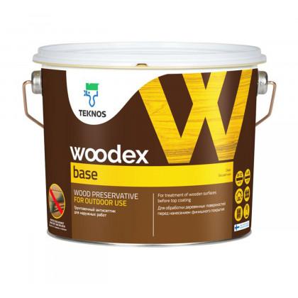 Текнос WOODEX BASE грунтовочный антисептик на органическом растворителе3 л.