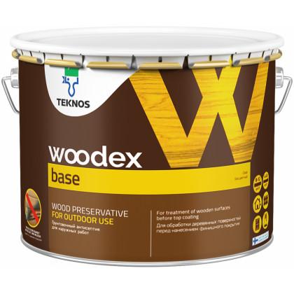 Текнос WOODEX BASE грунтовочный антисептик на органическом растворителе10 л.