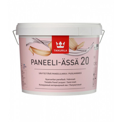 Тиккурила Лак интерьерный PANEELI-ASSA 20  п/мат 9 л.