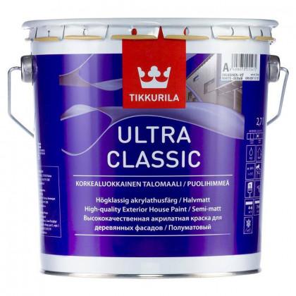 Тиккурила Фасадная краска для деревянных домов ULTRA CLASSIC п/мат 2,7 л.