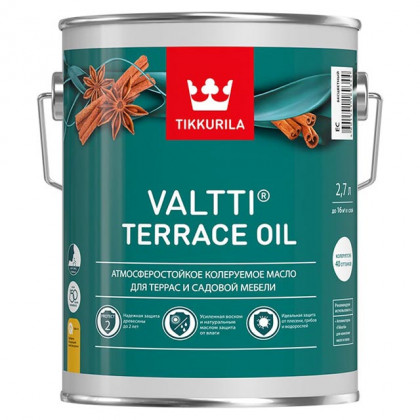Тиккурила Масло для террас VALTTI TERRACE OIL 2.7 л.